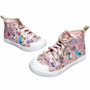 Disney | Pink Princess Themed High Top Sneakers